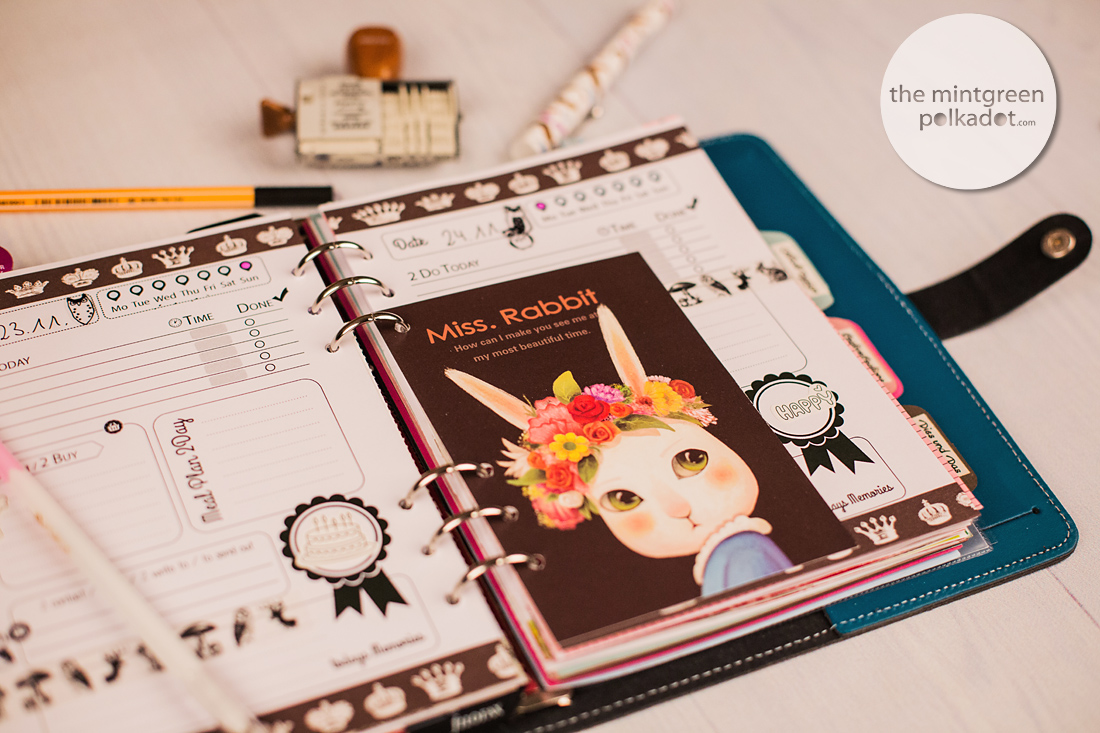 Planner Love ... Filofax Eyecandy of the Week by The Mintgreen Polkadot