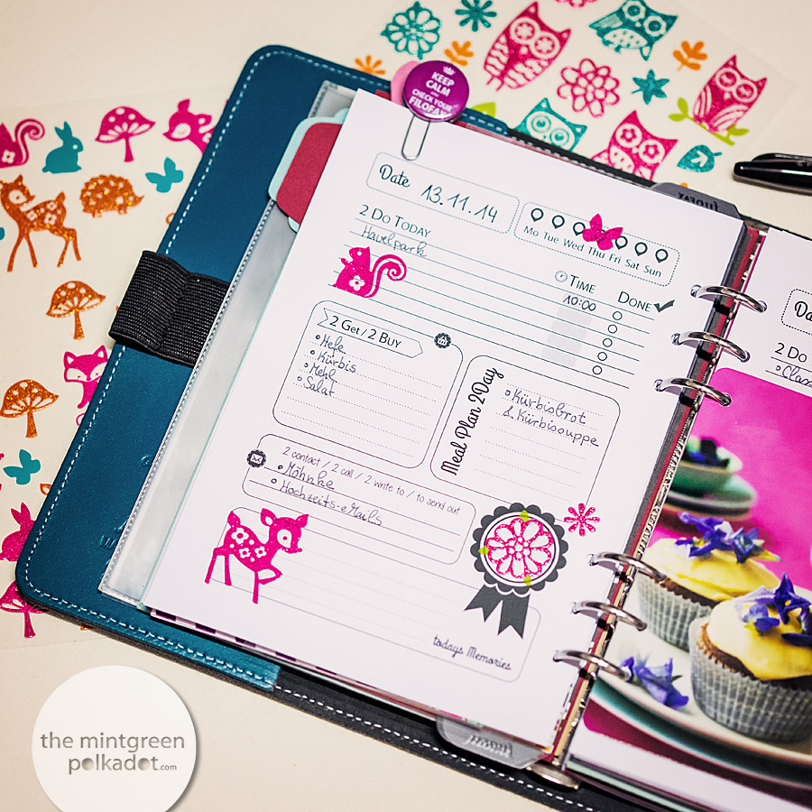 download printable filofax pages 1 day on 1 page for a5
