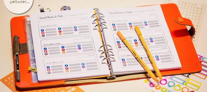 Planner-Love: Printables for Organizing your Blogger- and Social Media Life