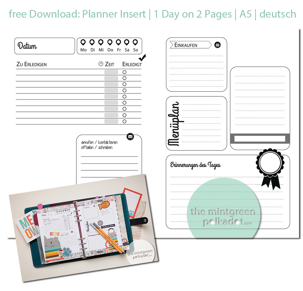 Filofax Planner Page Printable Inserts by Andrea Gomoll