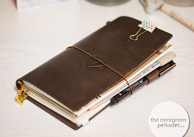 Planner Peace? My new Midori Travelers Notebook … | The Mintgreen ...