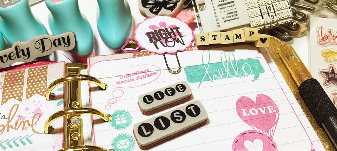 Stamps, Planners & Fun – creative Way to use Stamps in your Planners
