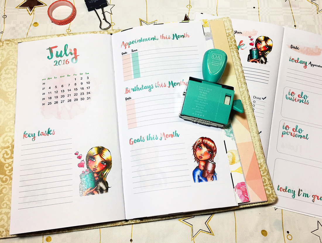 Printable Planner Inserts by Andrea Gomoll